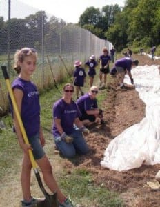 GE Aviation Volunteers at work