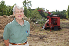Mary Jane beginning the meadow restoration effort in 2008.