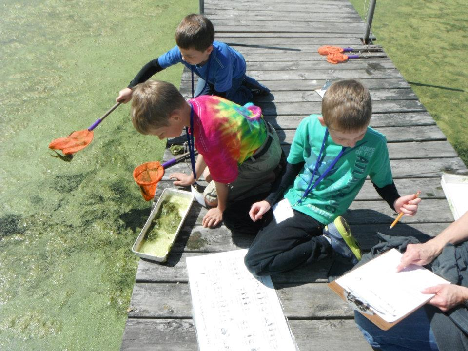 field trips outside in a pond