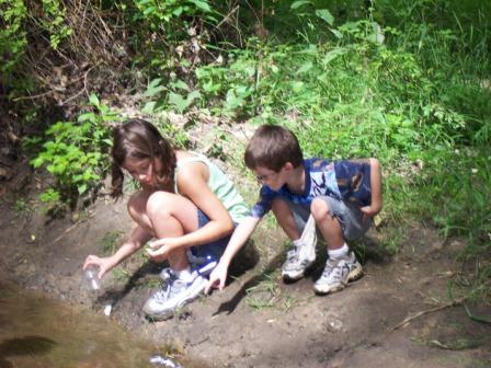 kids playing at Blandford Nature Center