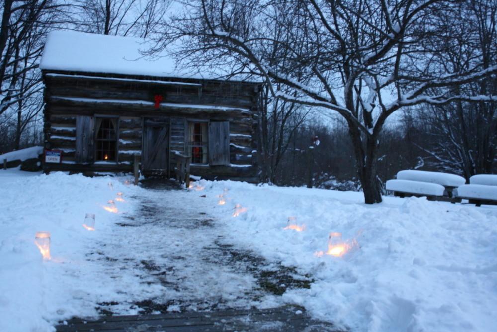 Log Cabin Winter
