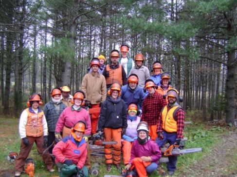 chainsaw group photo