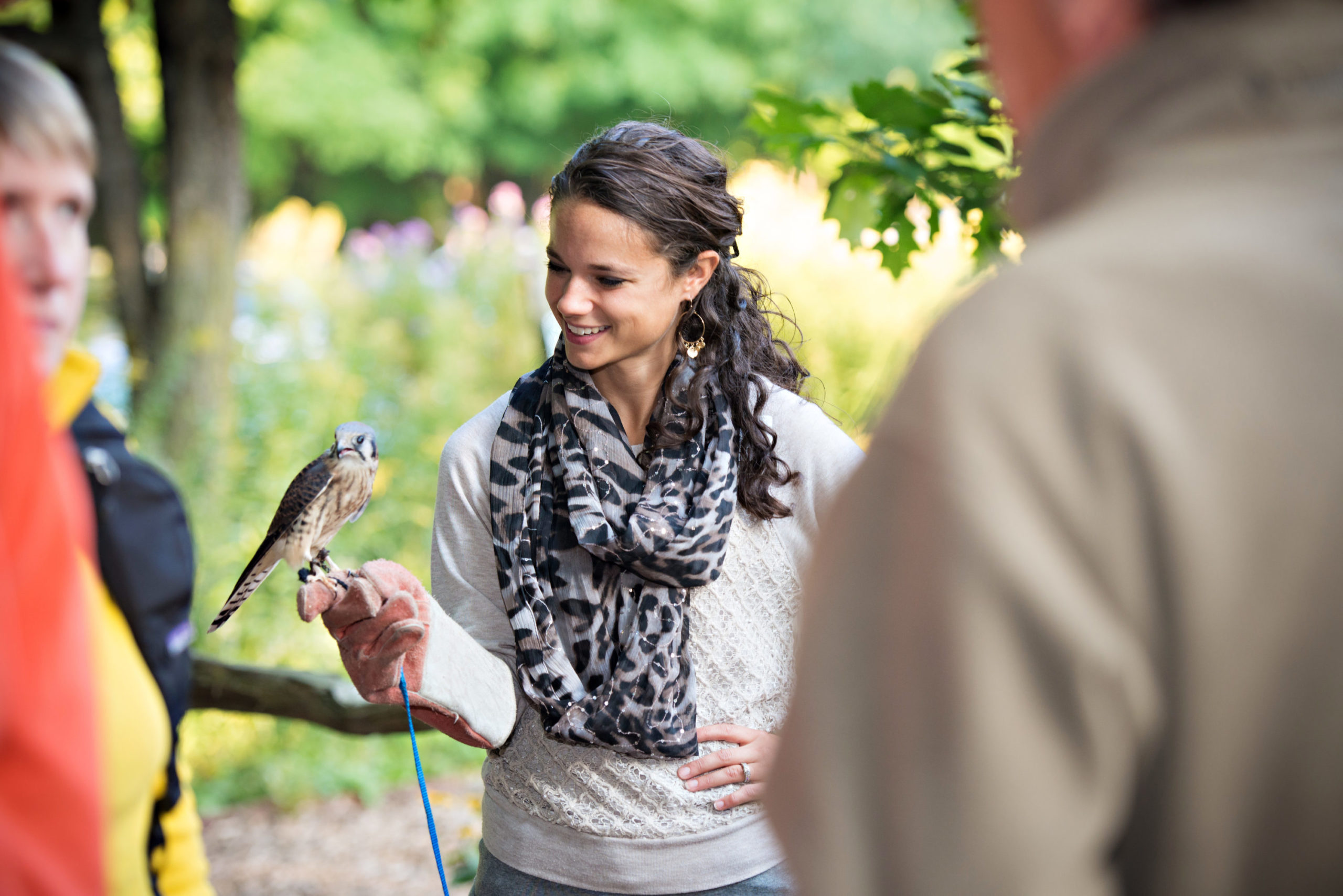 Showing the wildlife ambassador