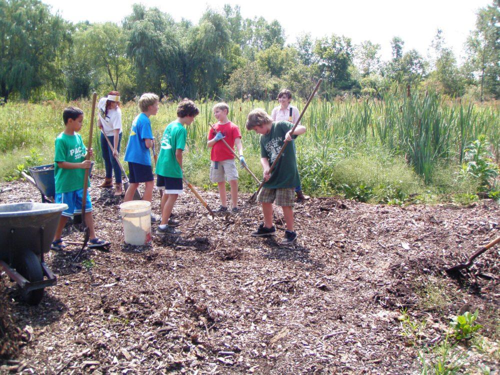 children volunteers at BNC
