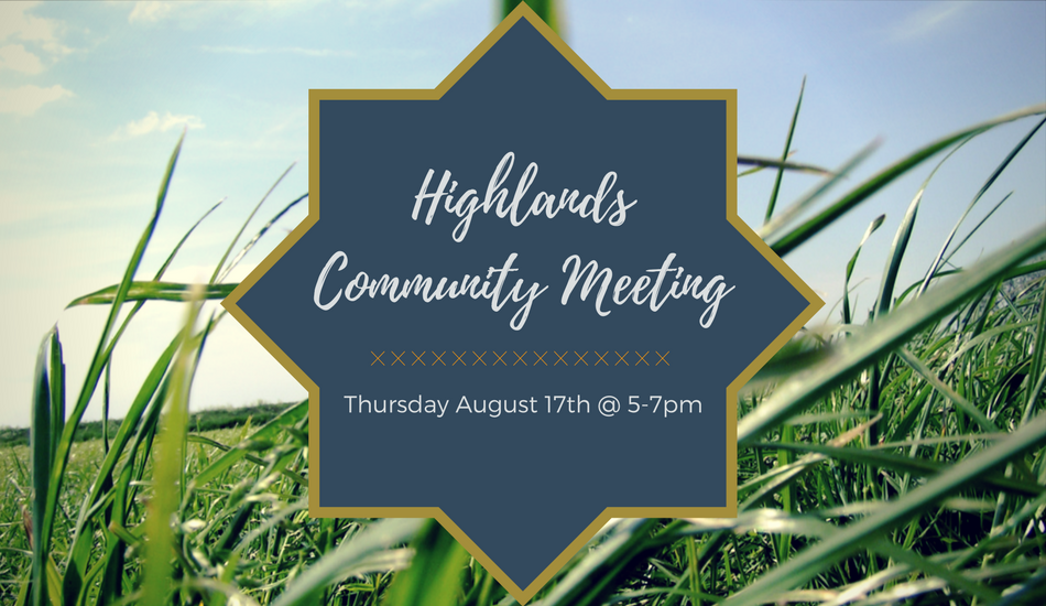 Highland Community Meeting