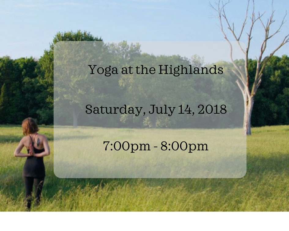 Yoga at the Highlands