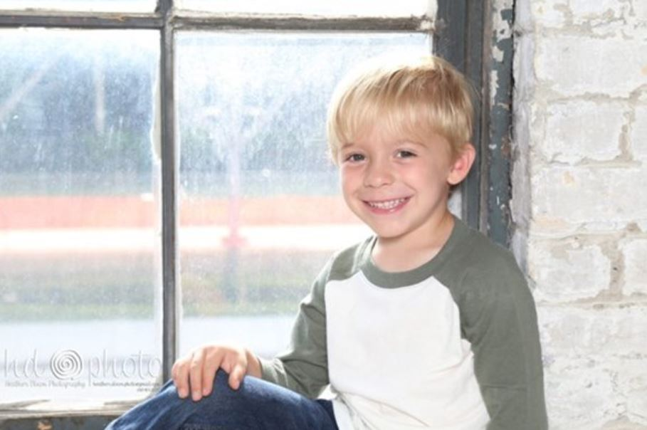 child posing at blandford nature center