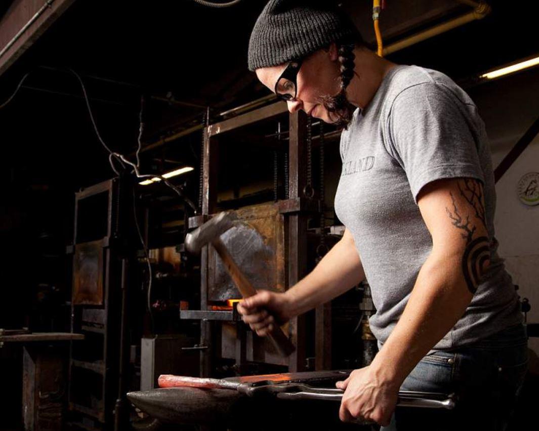 women blacksmith