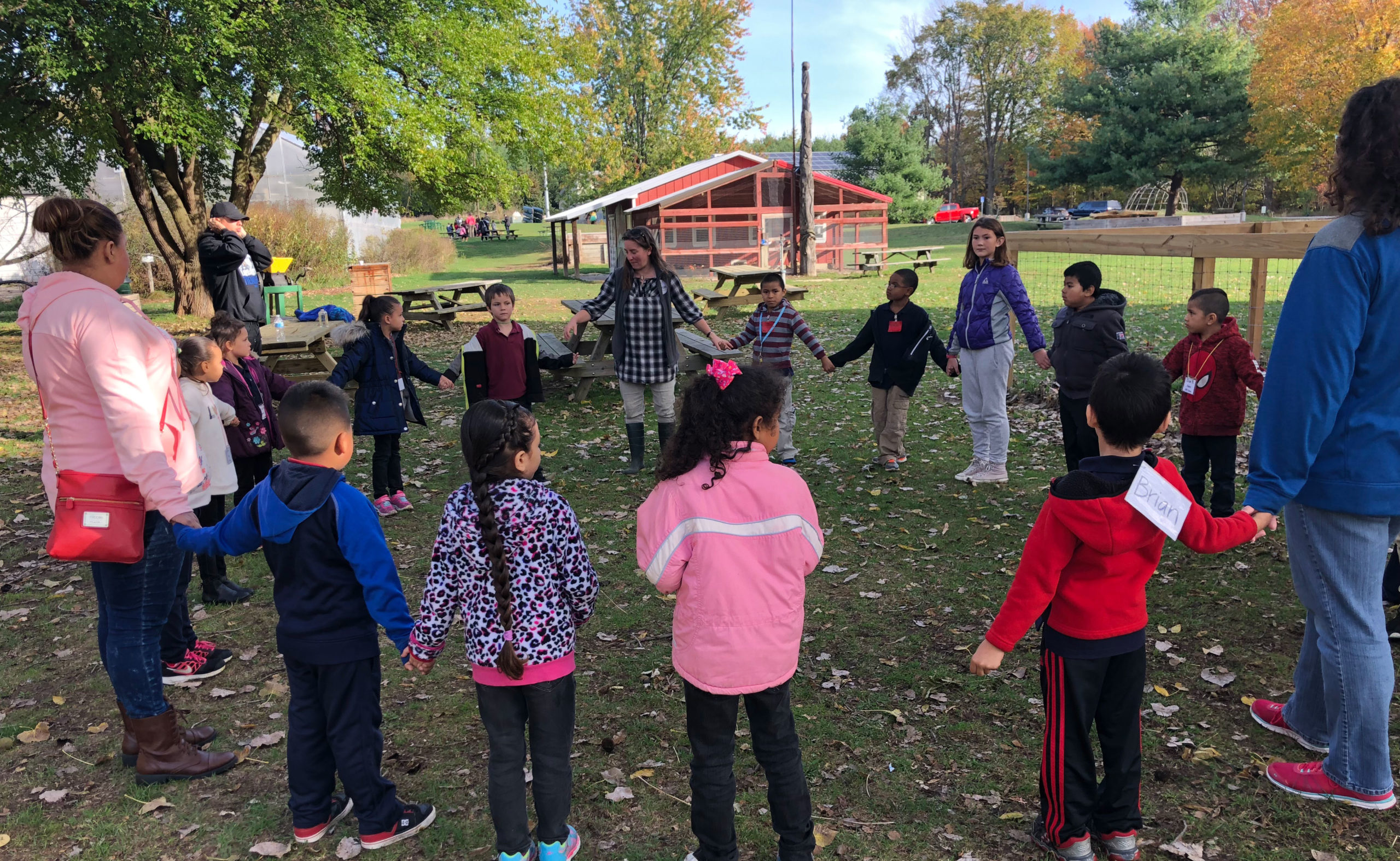 Students learning about nature at Blandford