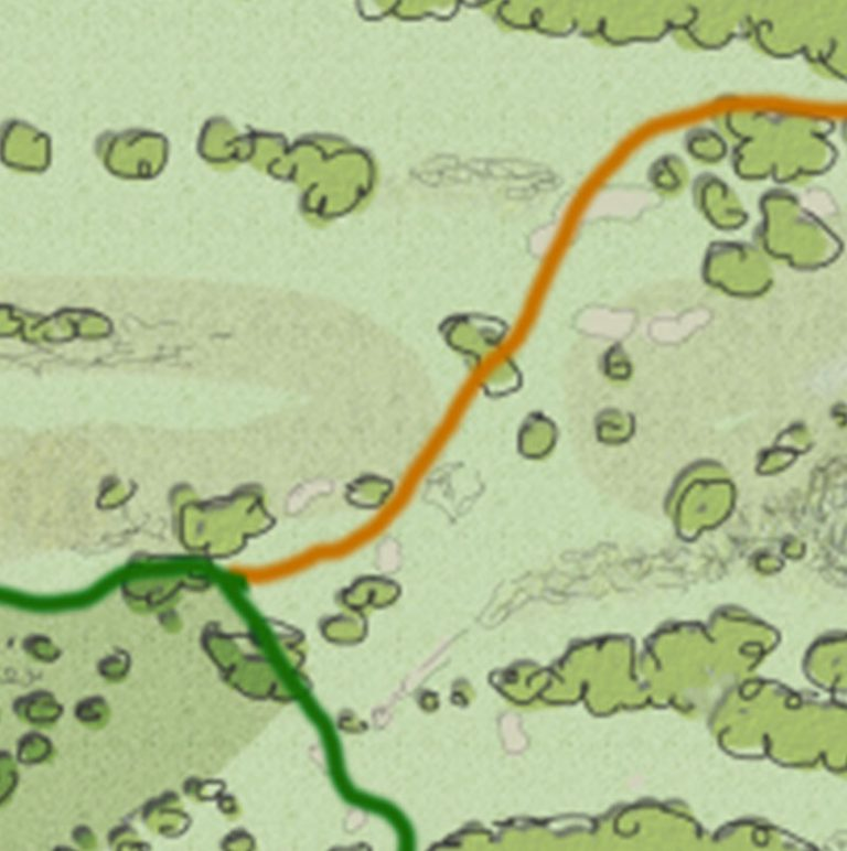 The Highlands Trail Map