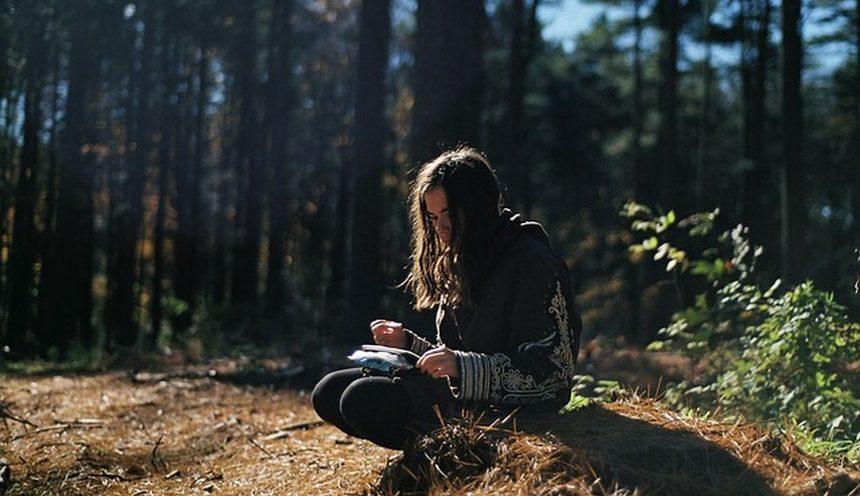 girl journaling