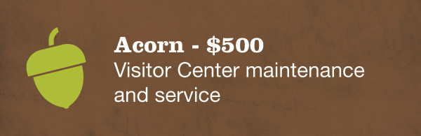 Acorn - $500 Visitor Center maintenance and service
